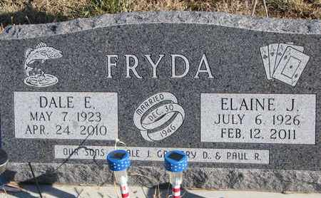 FRYDA, ELAINE J. - Bon Homme County, South Dakota | ELAINE J. FRYDA - South Dakota Gravestone Photos
