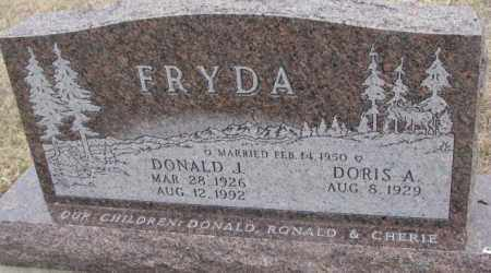 FRYDA, DORIS A. - Bon Homme County, South Dakota | DORIS A. FRYDA - South Dakota Gravestone Photos