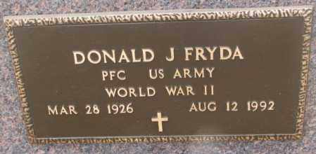 FRYDA, DONALD J. (WW II) - Bon Homme County, South Dakota | DONALD J. (WW II) FRYDA - South Dakota Gravestone Photos