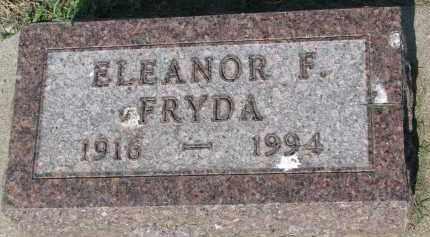 FRYDA, ELEANOR F. - Bon Homme County, South Dakota | ELEANOR F. FRYDA - South Dakota Gravestone Photos