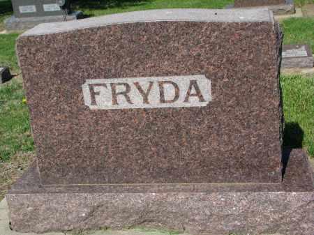FRYDA, FAMILY STONE - Bon Homme County, South Dakota | FAMILY STONE FRYDA - South Dakota Gravestone Photos