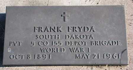 FRYDA, FRANK (WW I) - Bon Homme County, South Dakota   FRANK (WW I) FRYDA - South Dakota Gravestone Photos