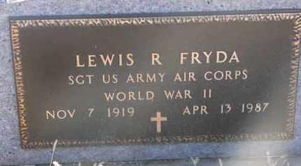 FRYDA, LEWIS R. (WW II) - Bon Homme County, South Dakota | LEWIS R. (WW II) FRYDA - South Dakota Gravestone Photos