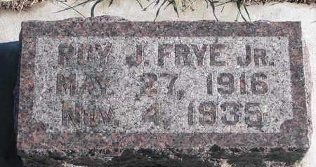 FRYE, ROY J. JR. - Bon Homme County, South Dakota | ROY J. JR. FRYE - South Dakota Gravestone Photos