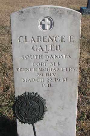 GALER, CLARENCE E. - Bon Homme County, South Dakota | CLARENCE E. GALER - South Dakota Gravestone Photos