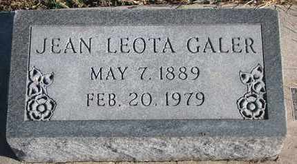 GALER, JEAN LEOTA - Bon Homme County, South Dakota | JEAN LEOTA GALER - South Dakota Gravestone Photos