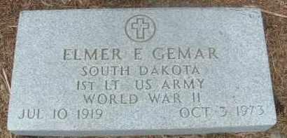 GEMAR, ELMER E. (MILITARY) - Bon Homme County, South Dakota | ELMER E. (MILITARY) GEMAR - South Dakota Gravestone Photos