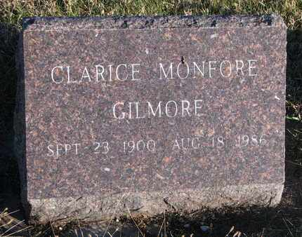 MONFORE GILMORE, CLARICE - Bon Homme County, South Dakota | CLARICE MONFORE GILMORE - South Dakota Gravestone Photos