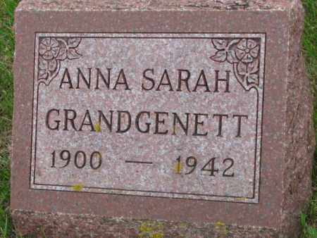 GRANDGENETT, ANNA SARAH - Bon Homme County, South Dakota | ANNA SARAH GRANDGENETT - South Dakota Gravestone Photos