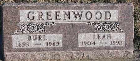 GREENWOOD, LEAH - Bon Homme County, South Dakota | LEAH GREENWOOD - South Dakota Gravestone Photos