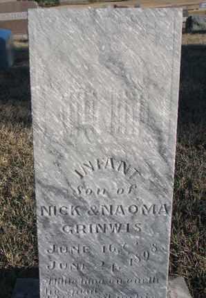 GRINWIS, INFANT BOY - Bon Homme County, South Dakota | INFANT BOY GRINWIS - South Dakota Gravestone Photos