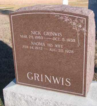 GRINWIS, NICK - Bon Homme County, South Dakota | NICK GRINWIS - South Dakota Gravestone Photos