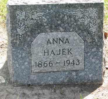 HAJEK, ANNA - Bon Homme County, South Dakota   ANNA HAJEK - South Dakota Gravestone Photos