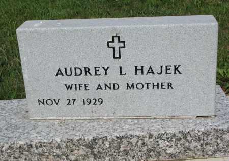 HAJEK, AUDREY L. - Bon Homme County, South Dakota   AUDREY L. HAJEK - South Dakota Gravestone Photos
