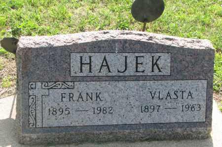 HAJEK, VLASTA - Bon Homme County, South Dakota | VLASTA HAJEK - South Dakota Gravestone Photos