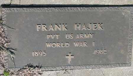 HAJEK, FRANK (WW I) - Bon Homme County, South Dakota | FRANK (WW I) HAJEK - South Dakota Gravestone Photos