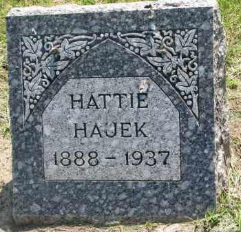 HAJEK, HATTIE - Bon Homme County, South Dakota | HATTIE HAJEK - South Dakota Gravestone Photos