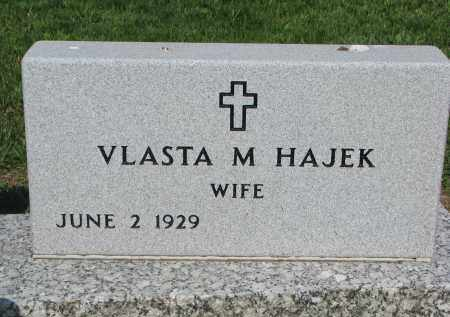 HAJEK, VLASTA M. - Bon Homme County, South Dakota | VLASTA M. HAJEK - South Dakota Gravestone Photos