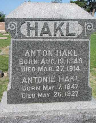 HAKL, ANTON - Bon Homme County, South Dakota   ANTON HAKL - South Dakota Gravestone Photos