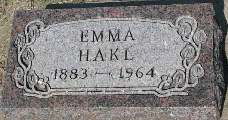 HAKL, EMMA - Bon Homme County, South Dakota | EMMA HAKL - South Dakota Gravestone Photos
