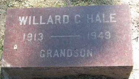 HALE, WILLARD C. - Bon Homme County, South Dakota | WILLARD C. HALE - South Dakota Gravestone Photos