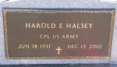 HALSEY, HAROLD E. (MILITARY) - Bon Homme County, South Dakota | HAROLD E. (MILITARY) HALSEY - South Dakota Gravestone Photos