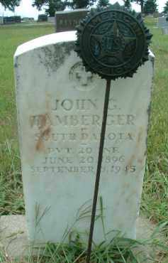 HAMBERGER, JOHN G. - Bon Homme County, South Dakota | JOHN G. HAMBERGER - South Dakota Gravestone Photos