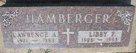 HAMBERGER, LAWRENCE A. - Bon Homme County, South Dakota | LAWRENCE A. HAMBERGER - South Dakota Gravestone Photos