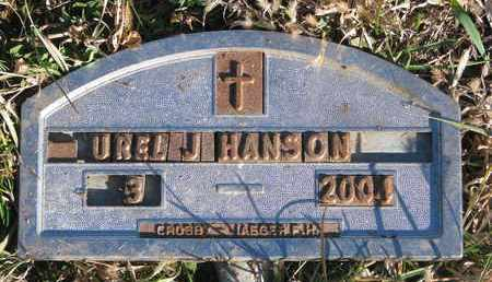 HANSON, UREL J. - Bon Homme County, South Dakota | UREL J. HANSON - South Dakota Gravestone Photos