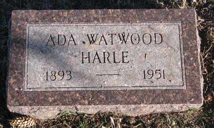 WATWOOD HARLE, ADA - Bon Homme County, South Dakota | ADA WATWOOD HARLE - South Dakota Gravestone Photos