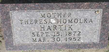HOMOLKA HARTIK, THERESA - Bon Homme County, South Dakota | THERESA HOMOLKA HARTIK - South Dakota Gravestone Photos