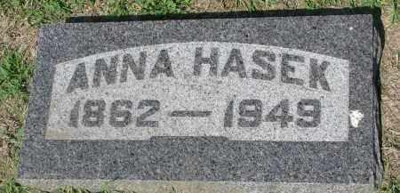 HASEK, ANNA - Bon Homme County, South Dakota | ANNA HASEK - South Dakota Gravestone Photos