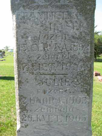 HASEK, FRANTISEK (CLOSEUP) - Bon Homme County, South Dakota | FRANTISEK (CLOSEUP) HASEK - South Dakota Gravestone Photos