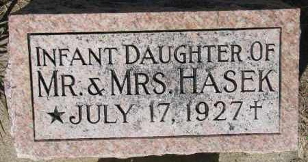 HASEK, INFANT - Bon Homme County, South Dakota | INFANT HASEK - South Dakota Gravestone Photos