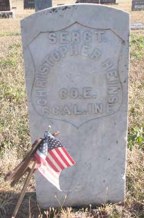 HEINS, CHRISTOPHER - Bon Homme County, South Dakota   CHRISTOPHER HEINS - South Dakota Gravestone Photos