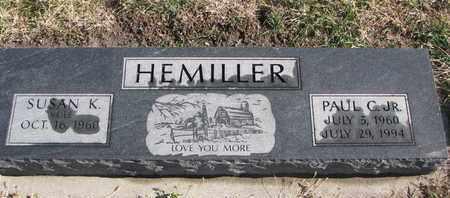 HEMILLER, SUSAN K. - Bon Homme County, South Dakota | SUSAN K. HEMILLER - South Dakota Gravestone Photos