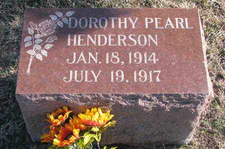 HENDERSON, DOROTHY PEARL - Bon Homme County, South Dakota   DOROTHY PEARL HENDERSON - South Dakota Gravestone Photos