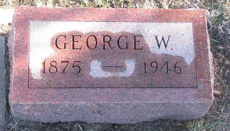 HENDERSON, GEORGE W. - Bon Homme County, South Dakota | GEORGE W. HENDERSON - South Dakota Gravestone Photos