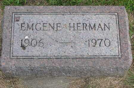 HERMAN, EMGENE - Bon Homme County, South Dakota   EMGENE HERMAN - South Dakota Gravestone Photos