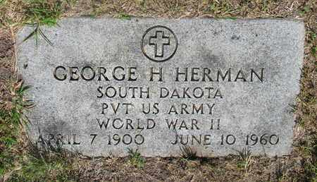 HERMAN, GEORGE H. - Bon Homme County, South Dakota | GEORGE H. HERMAN - South Dakota Gravestone Photos