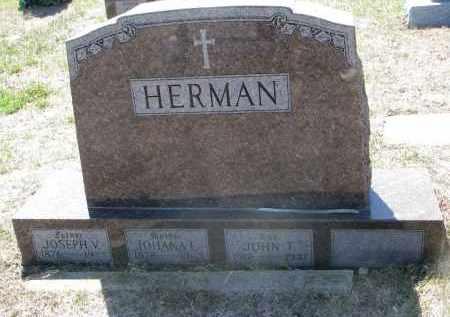 HERMAN, JOSEPH V. - Bon Homme County, South Dakota | JOSEPH V. HERMAN - South Dakota Gravestone Photos