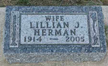 HERMAN, LILLIAN J. - Bon Homme County, South Dakota | LILLIAN J. HERMAN - South Dakota Gravestone Photos