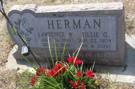 HERMAN, TILLIE G. - Bon Homme County, South Dakota | TILLIE G. HERMAN - South Dakota Gravestone Photos