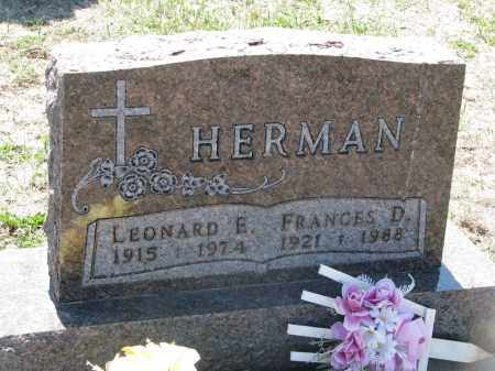 HERMAN, LEONARD E. - Bon Homme County, South Dakota | LEONARD E. HERMAN - South Dakota Gravestone Photos