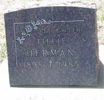 HERMAN, TILLIE - Bon Homme County, South Dakota | TILLIE HERMAN - South Dakota Gravestone Photos