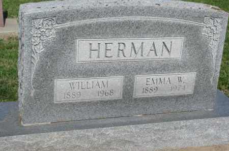 HERMAN, EMMA W. - Bon Homme County, South Dakota | EMMA W. HERMAN - South Dakota Gravestone Photos