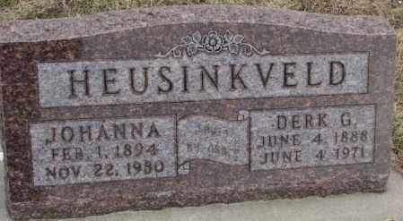 HEUSINKVELD, JOHANNA - Bon Homme County, South Dakota | JOHANNA HEUSINKVELD - South Dakota Gravestone Photos