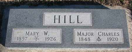 HILL, MAJOR CHARLES - Bon Homme County, South Dakota | MAJOR CHARLES HILL - South Dakota Gravestone Photos