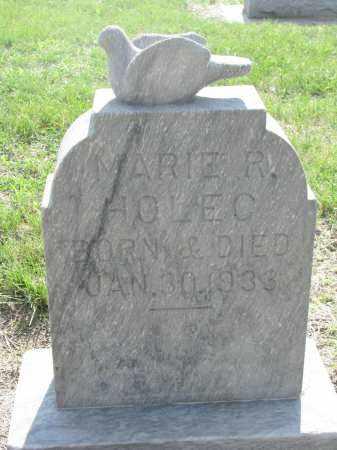 HOLEC, MARIE R. - Bon Homme County, South Dakota | MARIE R. HOLEC - South Dakota Gravestone Photos