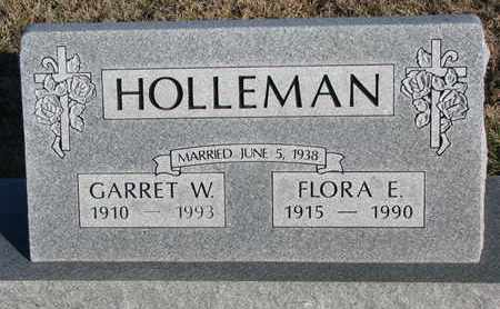 HOLLEMAN, FLORA E. - Bon Homme County, South Dakota | FLORA E. HOLLEMAN - South Dakota Gravestone Photos